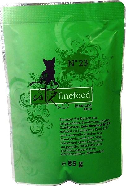 Catz Finefood No.23 - hovězí & kachna pro kočky 85 g
