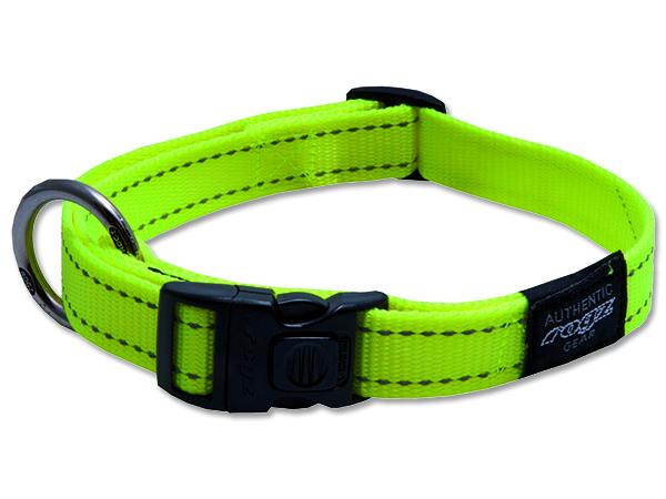 Obojek pro psa nylonový - Rogz Utility - žlutý - 2 x 34 - 56 cm