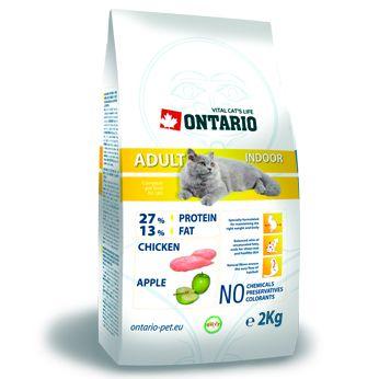Ontario Adult Indoor - kuřecí pro kočky žijící uvnitř 2 kg