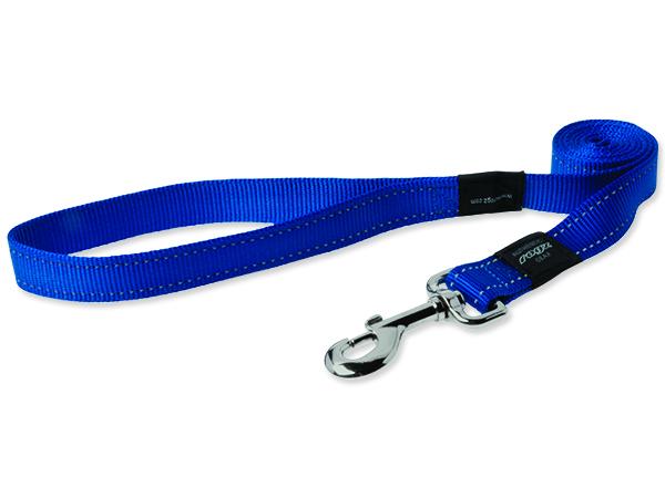 Rogz Utility Nylonové reflexní vodítko pro psy modré - S, 1,8 mx1,1 cm