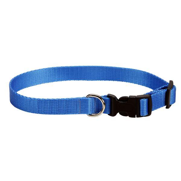 Obojek pro psa nylonový - modrý - 1,5 x 25 - 40 cm