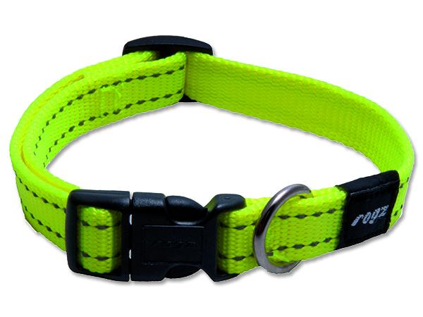 Obojek pro psa nylonový - Rogz Utility - žlutý - 1,6 x 26-40 cm