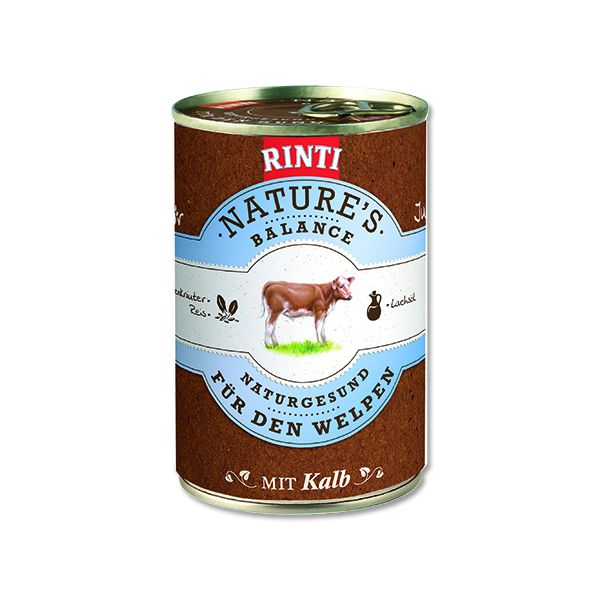 Rinti Nature's Balance telecí & těstoviny & vejce pro psy 400 g
