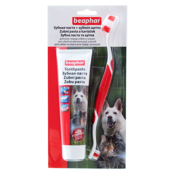 Beaphar zubní pasta + kartáček kombipack
