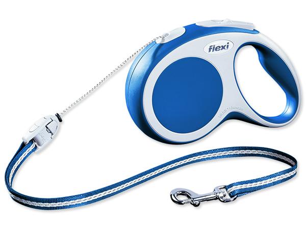 Flexi Vario Samonavíjecí vodítko lankové modré - 8m/12kg