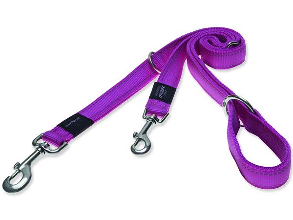 Vodítko pro psa přepínací nylonové reflexní - Rogz Utility - růžové - 1,6 x 160 cm