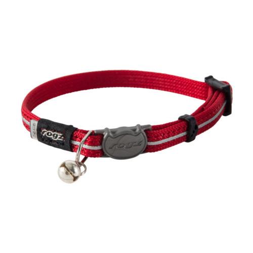 Rogz Catz AlleyCat Obojek nylon. reflexní pro kočky červený - XS, 16,5-23 cm