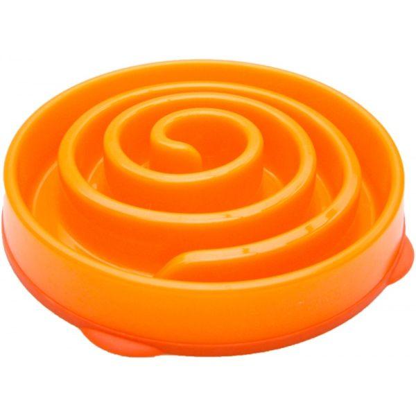Kyjen Slo-Bowl Coral miska proti hltání - oranžová