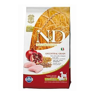 N&D Low Grain Dog Light S/M Chicken & Pomegranate
