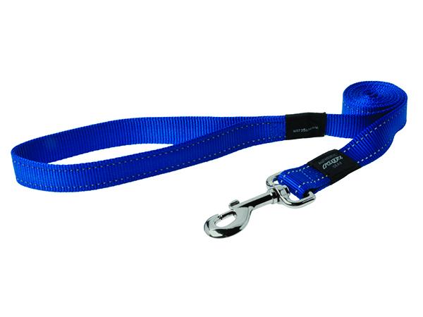 Rogz Utility Nylonové reflexní vodítko pro psy modré - M, 1,8 mx1,6 cm