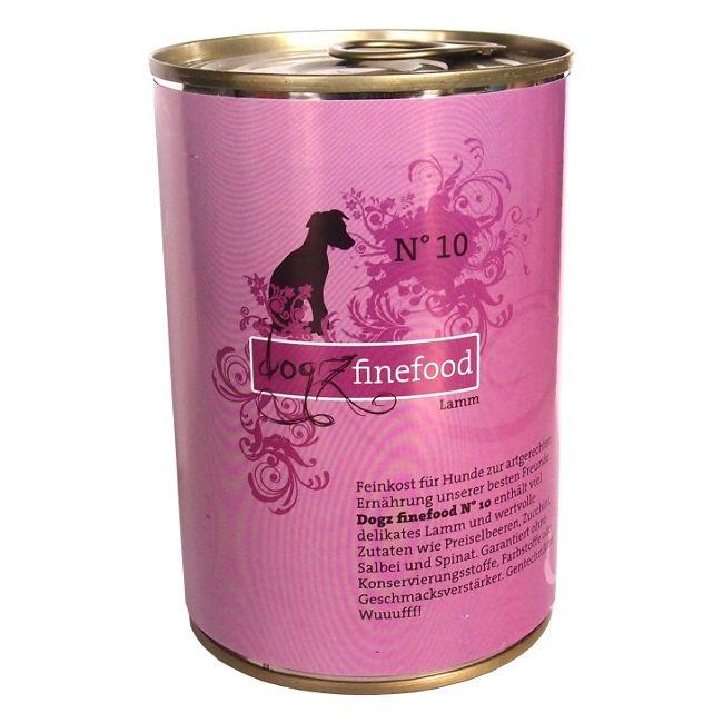 Dogz Finefood No.10 - jehněčí pro psy 400 g