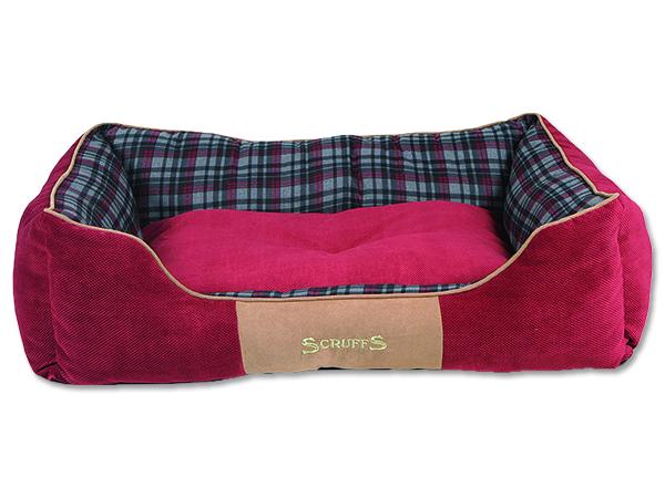 Scruffs Highland Box Bed pelíšek pro psy červený - velikost XL, 90x70 cm
