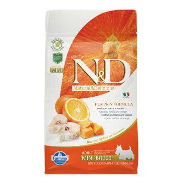 N&D GF Pumpkin DOG Adult Mini Codfish & Orange