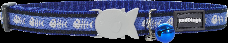 Red Dingo Fishbone Blue Obojek pro kočku