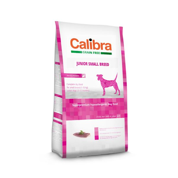 Calibra Dog GF Junior Small Breed Duck 7 kg NEW