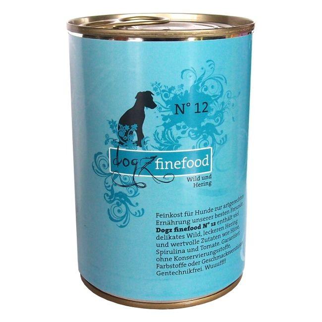 Dogz Finefood No.12 - zvěřina & sleď pro psy 400 g