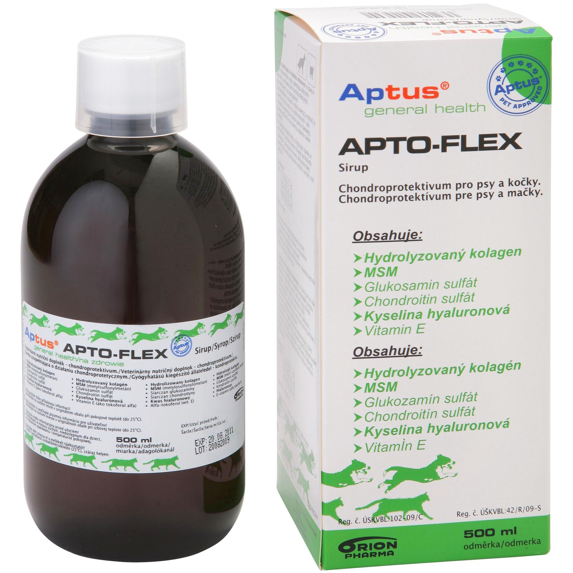 Aptus Apto-Flex Vet sirup pro - klouby psů a koček, 500 ml