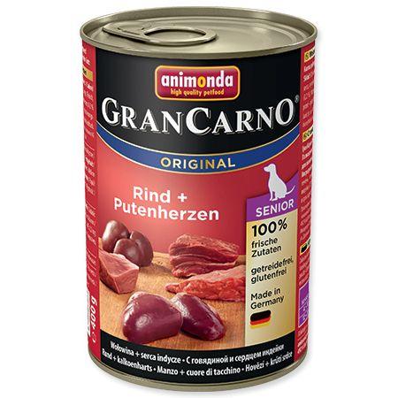 Animonda Gran Carno - Senior kuře & krůtí srdce 400 g
