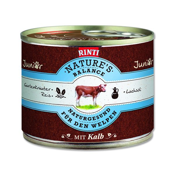 Rinti Nature's Balance telecí & těstoviny & vejce pro psy 190 g