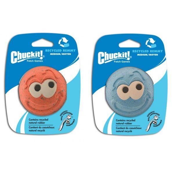 Chuckit! Remmy gumový aportovací míček s obličejem - M, 6,5 cm