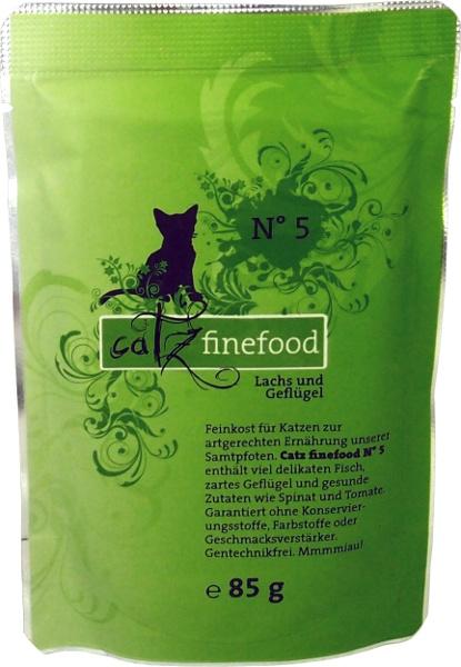 Catz Finefood No.5 - losos & drůbež pro kočky 85 g