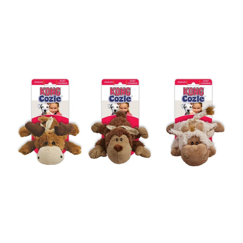 Kong Cozie Naturals Odolná plyšová hračka - M