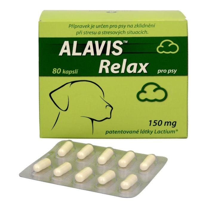 Alavis Relax 150 mg pro psy - na zklidnění při stresu, 80 tablet