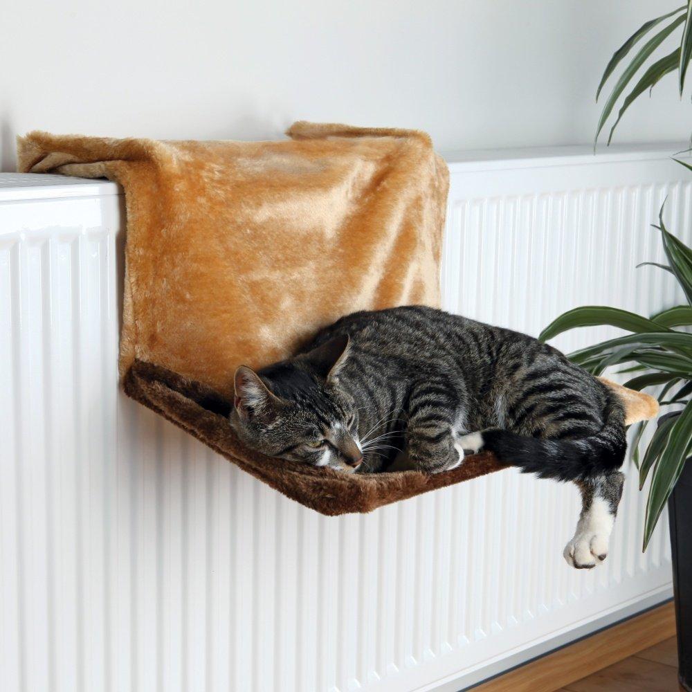 Trixie de Luxe závěsné lůžko na topení hnědobéžové, 45x24x31 cm